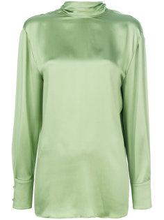 блузка с воротником на завязках Valentino