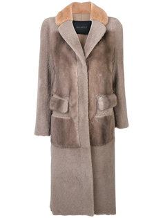пальто с искусственным мехом  Blancha