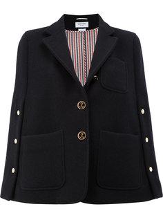 пиджак-кейп в стиле милитари  Thom Browne