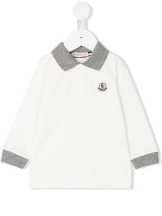 рубашка-поло с логотипом Moncler Kids