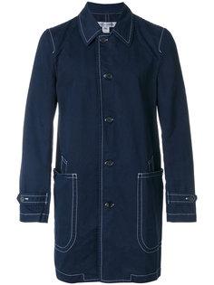 пальто на пуговицах с контрастной строчкой Comme Des Garçons Shirt