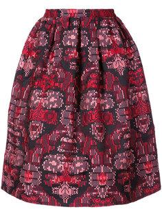 жаккардовая юбка Oscar de la Renta