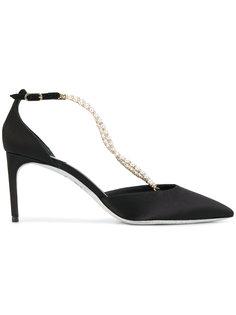 туфли-лодочки с жемчугом René Caovilla