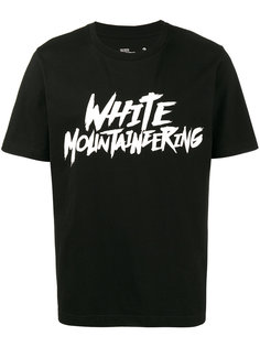 футболка с принтом с логотипом Raw White Mountaineering