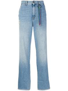 джинсы с вышивкой Mira Mikati
