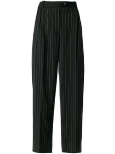 брюки в полоску со складками  McQ Alexander McQueen