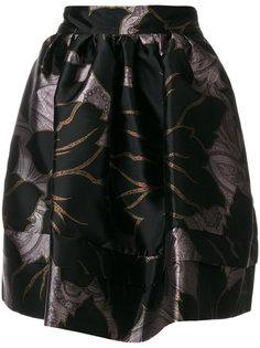 атласная юбка с принтом  Etro