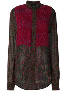 плиссированная блузка с леопардовым принтом  Michel Klein