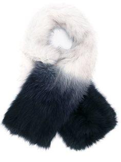 удлиненный шарф с градиентным узором Yves Salomon