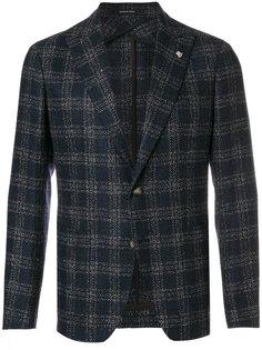 пиджак в клетку с накладными карманами Tagliatore