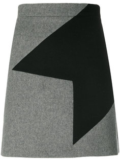 мини-юбка с геометрическим узором MSGM