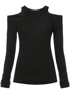 cut-out long sleeve T-shirt Rosetta Getty