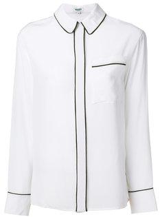 рубашка с контрастной оторочкой Kenzo