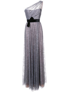 вечернее платье с блестками на одно плечо Marchesa Notte