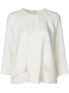 блузка с карманными клапанами Alberto Biani