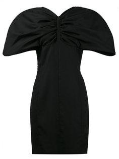 gathered exaggerated sleeve mini dress Jacquemus