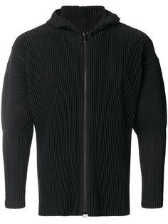 pleated hooded jacket Homme Plissé Issey Miyake