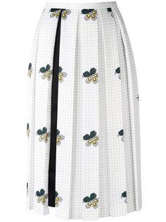 плиссированная юбка с цветочным принтом Victoria Beckham