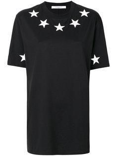 футболка свободного кроя с принтом из звезд Givenchy