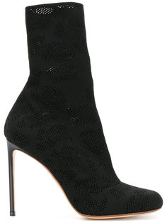 mesh mid-calf length boots Francesco Russo