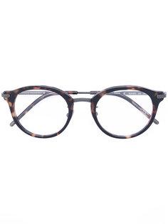 очки с эффектом черепахового панциря Bottega Veneta Eyewear