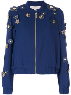 куртка-бомбер с декором из цветов Michael Kors