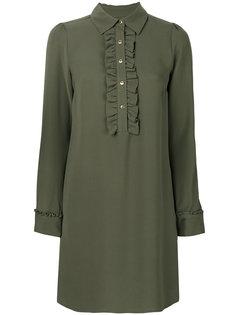 платье с воротником на пуговицах Michael Kors