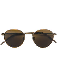 округлые солнцезащитные очки Bottega Veneta Eyewear