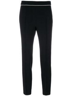 укороченные брюки с кантом  Boutique Moschino