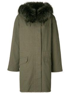 свободная куртка с меховым воротником Army Yves Salomon