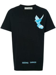 футболка с птицей  Off-White