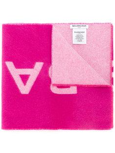 объемный шарф с логотипом Balenciaga