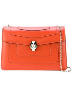 сумка на плечо с серебристой цепочкой  Bulgari