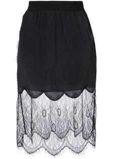 присборенная юбка с кружевным чехлом Diesel