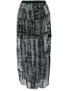 присборенная юбка с сетчатым чехлом с принтом Diesel