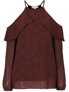 блузка с открытыми плечами и оборкой  Michael Michael Kors