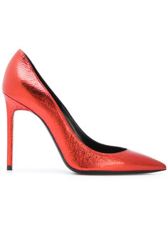 туфли с металлическим отблеском Saint Laurent