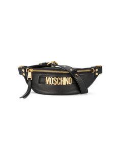 поясная сумка с бляшкой с логотипом Moschino