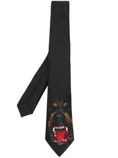 галстук с принтом ротвейлера  Givenchy