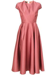 расклешенное платье со складками  Rochas