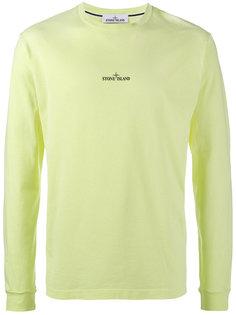свитер с длинными рукавами с принтом с логотипом Stone Island
