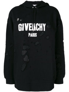 distressed effect hoodie Givenchy