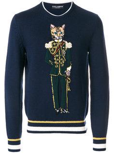толстовка с вышивкой кота Dolce & Gabbana