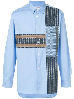 рубашка на пуговицах с контрастной вставкой Comme Des Garçons Shirt