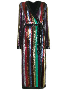 длинное платье с пайетками  Attico