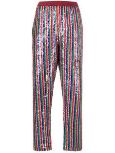 радужные брюки с блестками Ashish