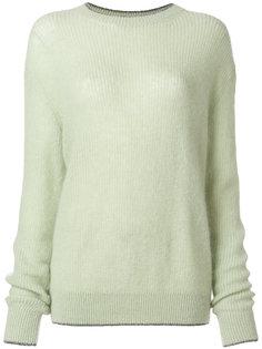 свитер с блестящей оторочкой Christopher Kane