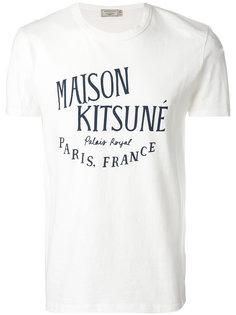 футболка с принтом логотипа Maison Kitsuné