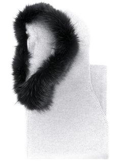 шарф с отделкой из лисьего меха Eleventy