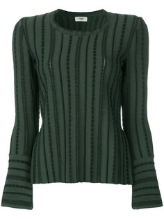 slit striped jumper Fendi